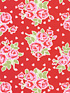 Valentine Rose PWTW076-Red Fabric by Tanya Whelan