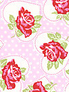 Valentine Rose PWTW077-Pink Fabric by Tanya Whelan