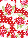Valentine Rose PWTW077-Red Fabric by Tanya Whelan