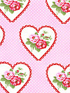 Valentine Rose PWTW082-Pink Fabric by Tanya Whelan