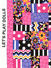 Let's Play Dolls A-7096-E Fabric by Firetrail Designs