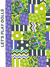 Let's Play Dolls A-7096-P Fabric by Firetrail Designs