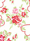 Valentine Rose PWTW083-Red Fabric by Tanya Whelan