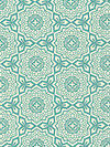 Botanique PWJD087-Teal Fabric by Joel Dewberry