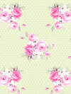 Slipper Roses PWTW089-Green Fabric by Tanya Whelan