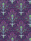 Emma's Garden PS6449-VIOL Fabric by Patty Sloniger