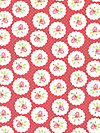 Lulu Roses PWTW094-Red Fabric by Tanya Whelan