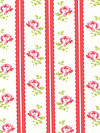 Lulu Roses PWTW096-Red Fabric by Tanya Whelan