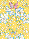 Butterfly Garden PWDF225-YELLO Fabric by Dena Designs