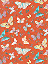 Butterfly Garden PWDF226-REDXX Fabric by Dena Designs