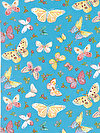 Butterfly Garden PWDF226-TURQU Fabric by Dena Designs