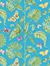 Butterfly Garden PWDF227-TURQU Fabric by Dena Designs