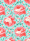Classic Floral PWSL033-SPRIN Fabric by Snow Leopard Designs