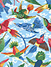 Natural World PWSL040-NATUR Fabric by Snow Leopard Designs