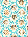 Natural World PWSL042-AQUAX Fabric by Snow Leopard Designs