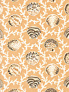Natural World PWSL042-OCHRE Fabric by Snow Leopard Designs