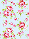Rambling Rose PWTW133-BLUEX Fabric by Tanya Whelan