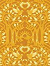 hello LOVE PWHB075-GOLDX Fabric by Heather Bailey