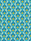 hello LOVE PWHB076-BLUEX Fabric by Heather Bailey