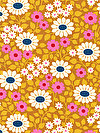 hello LOVE PWHB078-GOLDX Fabric by Heather Bailey