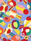 Brandon Mably PWBM063-BLUEX Fabric