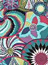 Tribal PWSL045-AMAZO Fabric by Snow Leopard Designs