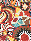 Tribal PWSL045-TERRA Fabric by Snow Leopard Designs