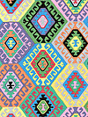 Tribal PWSL046-DYNAS Fabric by Snow Leopard Designs