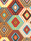 Tribal PWSL046-TERRA Fabric by Snow Leopard Designs