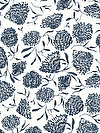 Floral Waterfall PWSN007-BLUEX Fabric by Shannon Newlin