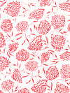 Floral Waterfall PWSN007-PINKX Fabric by Shannon Newlin