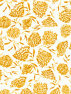 Floral Waterfall PWSN007-YELLO Fabric by Shannon Newlin