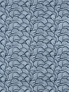 Floral Waterfall PWSN008-BLUEX Fabric by Shannon Newlin