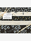 White Christmas CHARCOAL Half Yard Gift Pack by Zen Chic