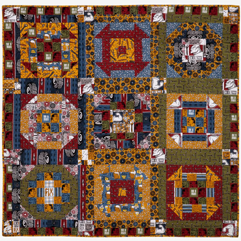 Wrench It Up! Quilt featuring Be A Man by Douglas Day