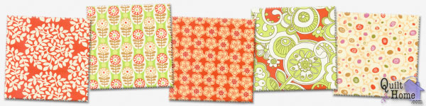 Park Slope by Erin McMorris — Orange Creamsicle : EM08-Orange, EM05-Lime, EM06-Orange, EM01-Orange, EM07-Ivory
