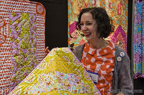 Erin McMorris showing Weekends at Spring Quilt Market 2010