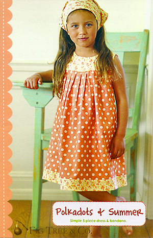 Polka Dots & Summer dress pattern by Fig Tree