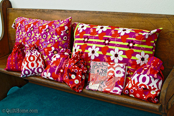 Valori Wells Pillow Cases made with Hallmark's Valentines Day