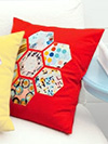 Honeycomb Pillow Kit in Paprika by Jay McCarroll
