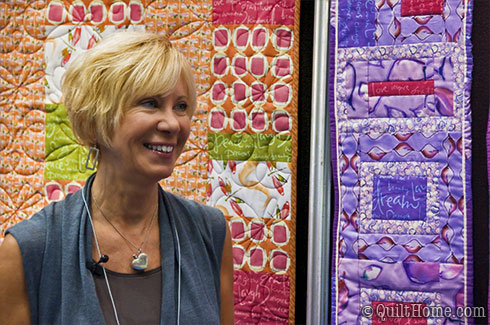 Kathy Davis at Spring Quilt Market 2010