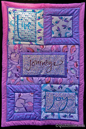 Journeys by Kathy Davis — quilted wall hanging