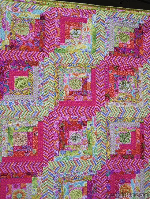 Quilt featuring Kaffe Fassett fabrics - Westminster booth - Spring Quilt Market