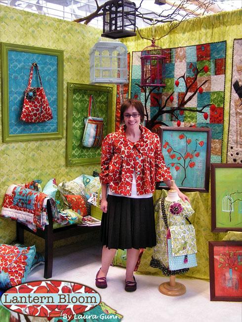 Quilt Market Booth: Lantern Bloom by Laura Gunn