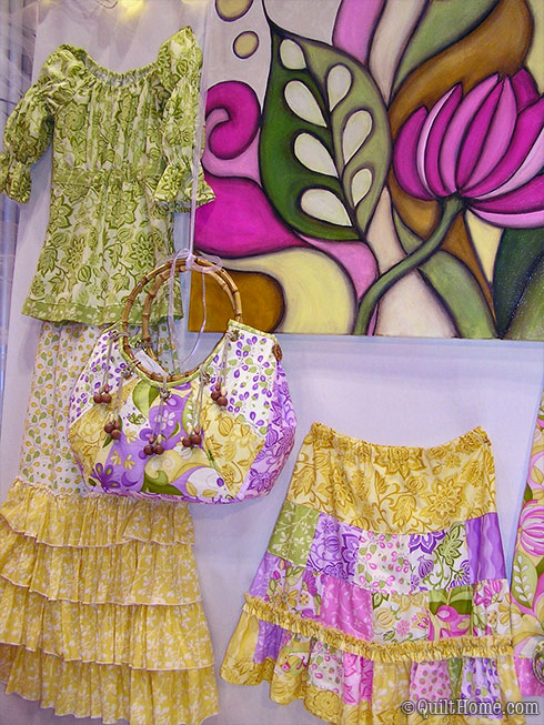 Lila Tueller's Fall Quilt Market 2009 booth