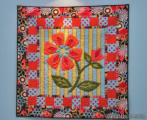 Flower Shower Quilt featuring Michael Miller Fabrics