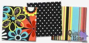 Michael Miller - Happy Tones & Jewel Tones : CX4065-CLEM, CX1488-WHIT, CX4067-CLEM