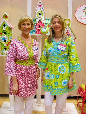 Anne Maxfield & Valorie Pillow in Torri Tunics