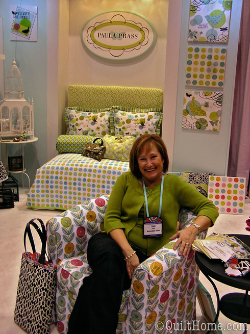 Paula Prass at Quilt Market