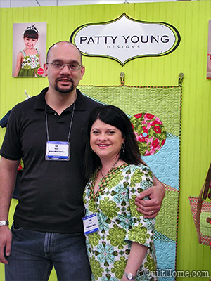 Patty Young & her husband at Spring Quilt Market